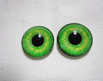 Glass eyes 14mm cabochons for dolls or sculptured creatures