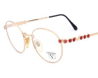Valentino V387 1046 vintage rand eyeglasses mad in Italy 80's