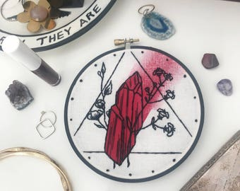 """Realgar """"Ruby of Arsenic"""" Floral Geometric Embroidery"""