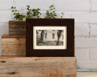 "5x7"" Picture Frame in 1.5 Standard Style with Vintage Dark Wood Tone Finish - IN STOCK - Same Day Shipping - 5 x 7 Modern Photo Frame Brown"