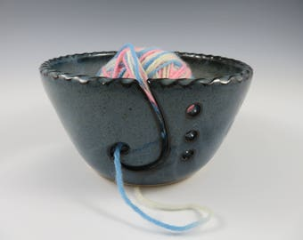 Pottery Yarn Bowl ~ Ceramic Yarn Bowl ~ Yarn Bowl ~ Knitting Bowl ~ Crochet Bowl ~ Yarn Holder ~ Pottery Knitting Bowl