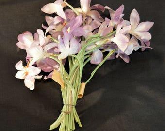Vintage Purple Fabric Flower Bunch Millinery Supply