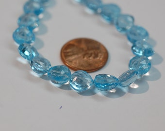 Sky Blue Topaz Straight Drill Hearts Faceted