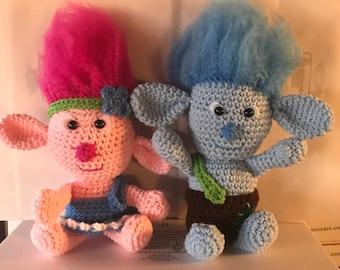 Crochet troll dolls