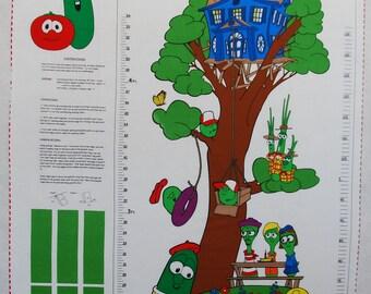 Veggie Tales Grow Chart Fabric Panel