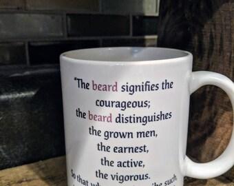 St. AUGUSTINE BEARD QUOTE mug