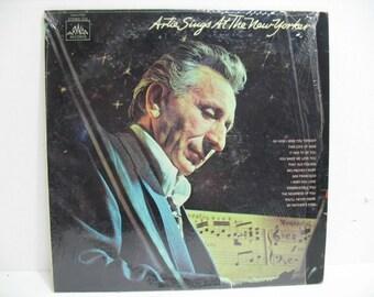 Artie Sings At The New Yorker Vintage LP, Jazz Lounge Art Mineo Record Album on Arwan in Shrink