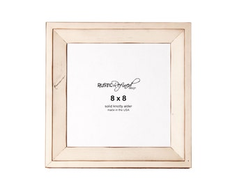 8x8 Haven picture frame - Off White, Free Shipping