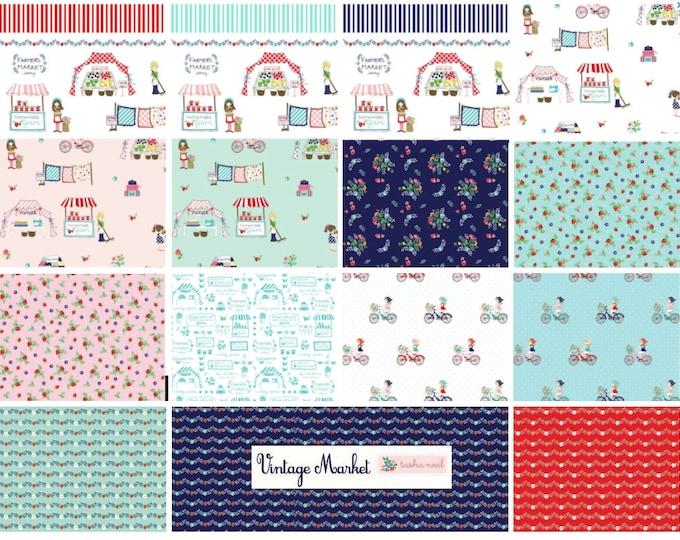 Vintage Market Bundle, Riley Blake cotton fabric - fat quarter set - 18 pieces