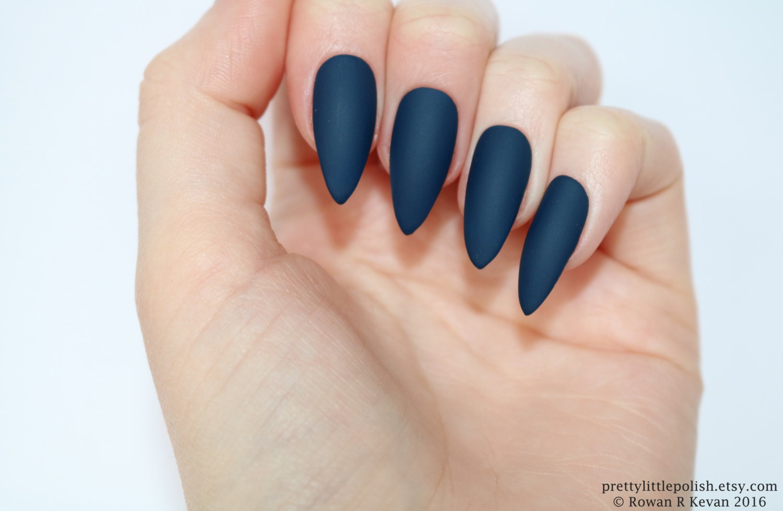 Fantastic Dark Blue Fake Nails Image Collection - Nail Art Design ...