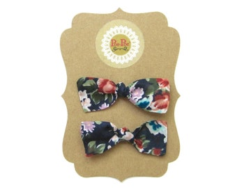 Floral Hair Bow, Infant Headbands,Toddler Hair Bows,Floral Infant Headband,Baby Hair Bows,Baby Girl Clip Bow,Toddler Clip Bows,Ready To Ship