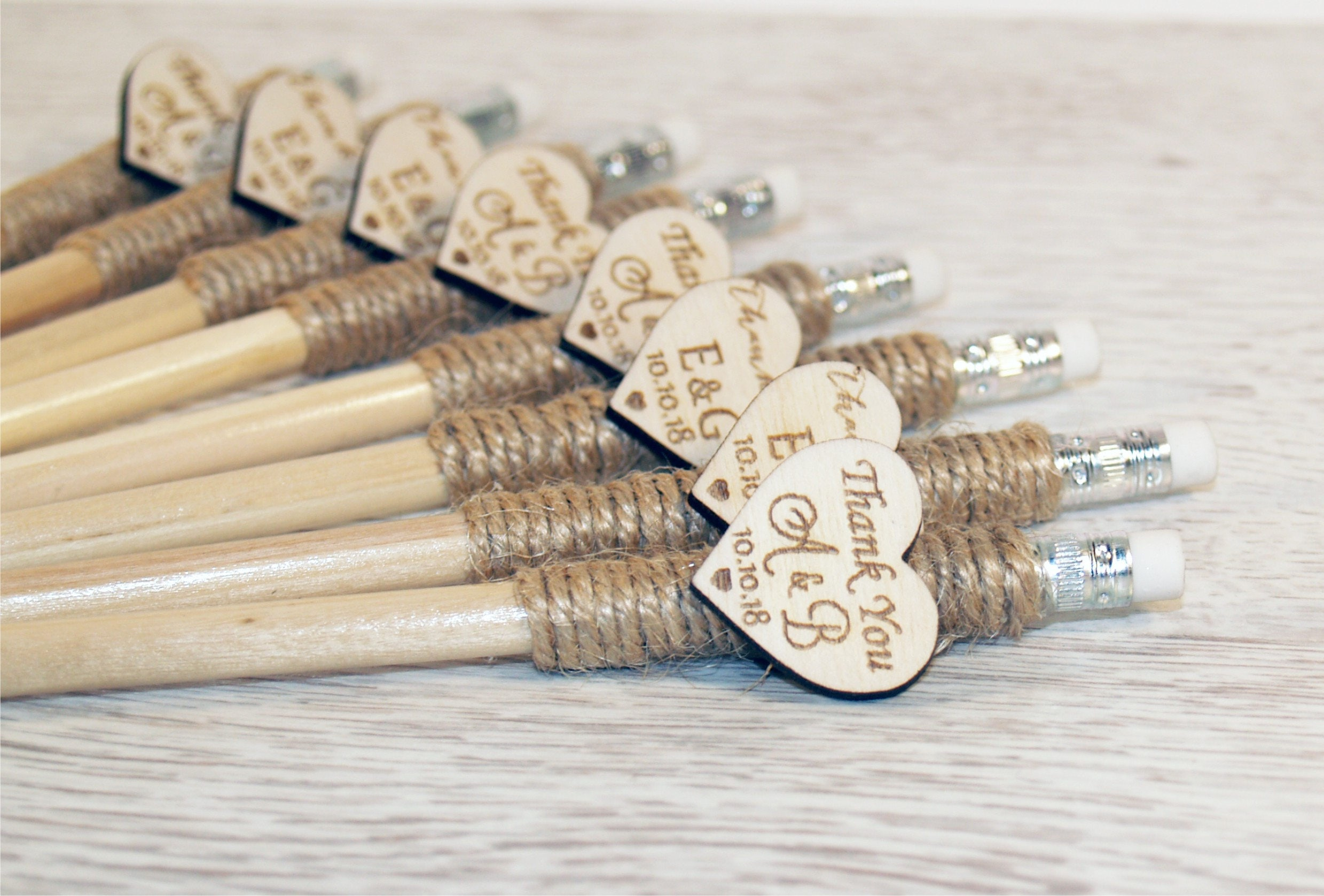 Wedding pencil, Custom pencil, personalized pencil, Engraved pencil ...