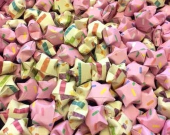 275 Origami Stars, Pink Confetti And Birthday Candles Origami Stars, Parties Decor