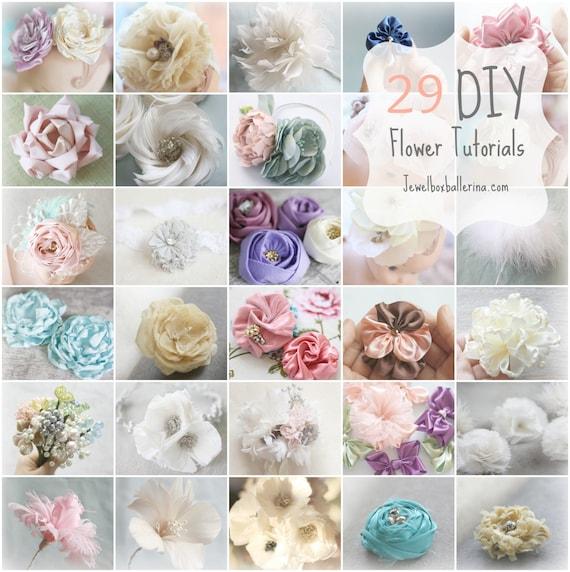 29 flower tutorials paper flower tutorial fabric flower mightylinksfo Gallery