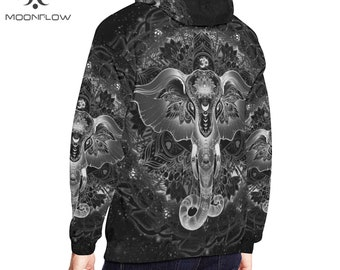 Psychedelic Clothing Visionary Art Hoodie Men Sacred Geometry Clothing Psychedelic Hoodie Music Festival Clothing Rave Clothes Trippy LSD