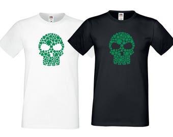 Shamrock Sugar Skull T-Shirt, Funny, Irish, St. Patrick's Day