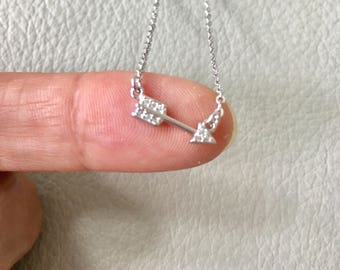 Arrow Necklace, sterling silver arrow, Dainty Arrow Necklace,Arrow Charm Necklace