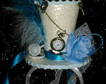 Alice in Wonderland Alice Through The Looking Glass Mini Top Hat Mad Hatter Tea Party Pocket Watch Key Cosplay Wedding Festivals