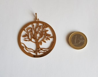 18K gold plated tree of life pendant
