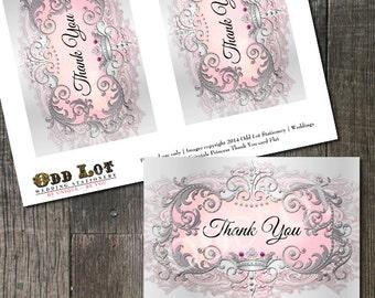 Princess Thank You Card, Princess Birthday Party, Princess Quinceañera, Princess Baby Shower, Princess Bridal Shower, Princess Wedding