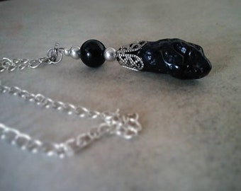 Pendulum Necklace in Tectite
