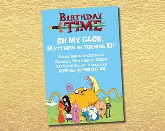 Finn birthday invite Etsy