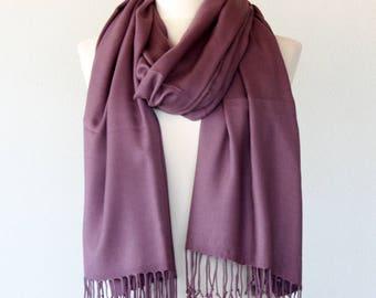 Clothing gift mauve pashmina scarf purple pashmina shawl christmas gift for her bridal shawl winter wedding scarf birthday gift