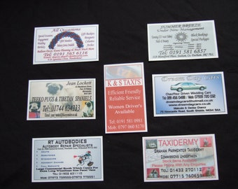 New 750 x  Laminated Business Cards  Designed & Printed With Your Business Details