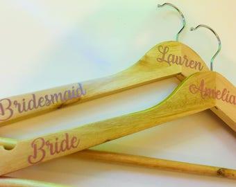 Rose Gold Wedding Hanger/Wedding Dress Hanger/Bridal Hanger/Bridesmaid Gift/Bridesmaid Dress Hanger/Personalised/Wedding/Bridal Party