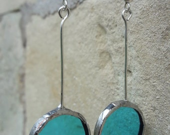"""""""stained glass"""" earrings"""