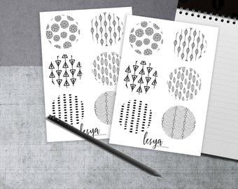 Circles - Black and White