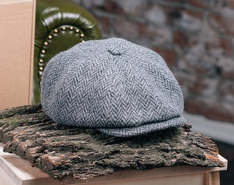 Flatcap Cap Hat * Newsboy Cap * Newsboy Hat *  Tweed Wool
