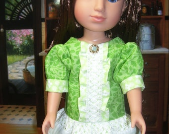 "14"" Doll Ruffle front Drop waist Dress.....free shipping"