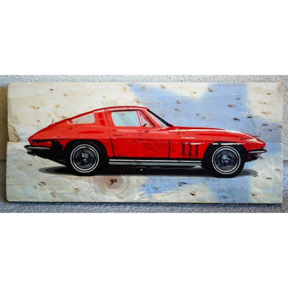 Corvette 1964 Stingray Classic Chevrolet Automobile Wall Art