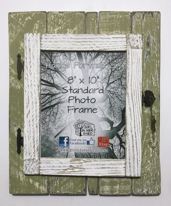 Made To Order Rustic 8 X 10 Hinged Frame