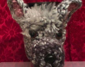 ALPACA  hand crochet travel mug cosy with travel mug