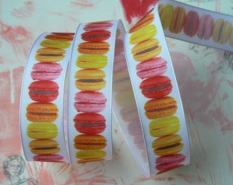 Tutti frutti average 15 mm macaron column ribbon