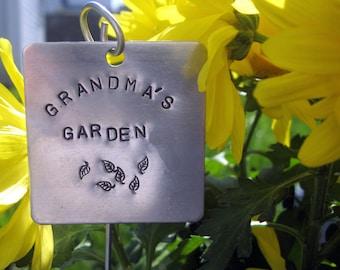 """Extra große Hand gestempelt Garten / Kraut Markierung... Platz 2"""""""