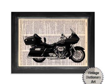 Harley Davidson 2011 Road Glide Ultra Motorcycle Dictionary Art Print