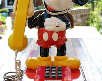 1970s Vintage Mickey Mouse Analogue Phone