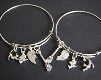 Set of TWO best witches bracelets