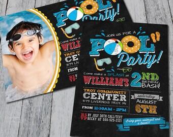 Pool Party Pool Invitation (Digital)