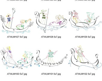 Art-Deco-Venetian-Style-5x7. ( 10 Machine Embroidery Designs from ATW )