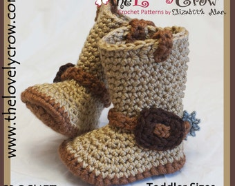Crochet Pattern  Cowboy Boots Toddler Sizes