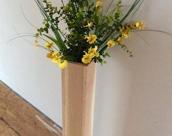 Wood cylinder vases