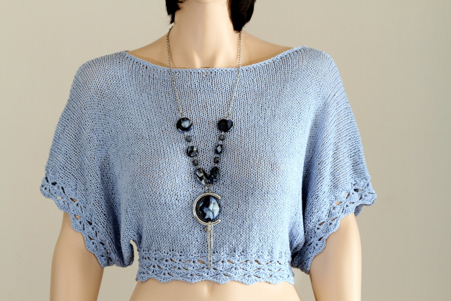 Hand knitcrochet top pattern top tutorial blouse pattern knit this is a digital file baditri Gallery