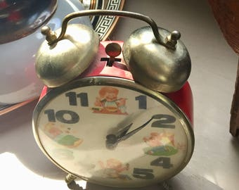 Vintage metal alarm clock