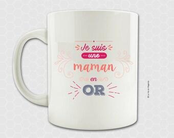 Gold MOM mug - mug for MOM