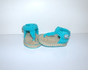 Summer sandals, baby sandals, crochet baby sandals, for girl, baby flip flops, newborn sandals, crochet sandals, baby shoes, baby girl