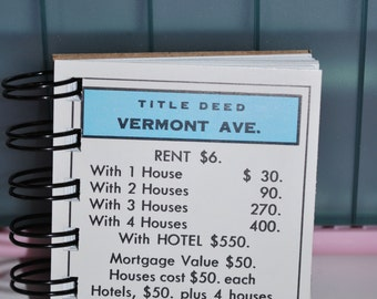 Vermont Ave Monopoly Notebook